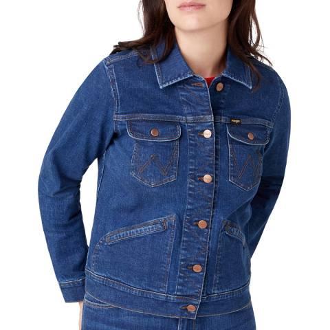 Wrangler Indigo Regular Fit Cotton Denim Jacket