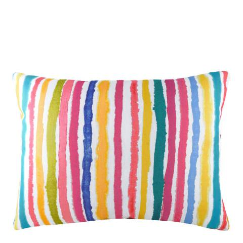 Evans Lichfield Aquarelle Stripe Cushion 43x33cm, Multi