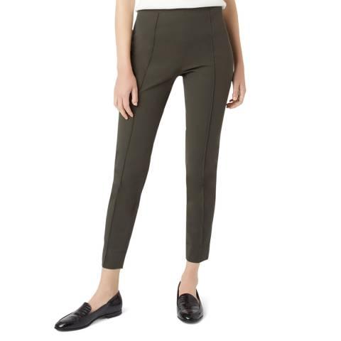 Hobbs London Khaki Adrianna Skinny Stretch Trousers