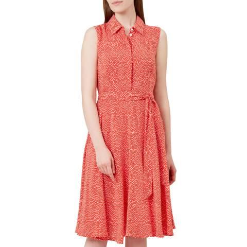 Hobbs London Red Polka Belinda Shirt Dress