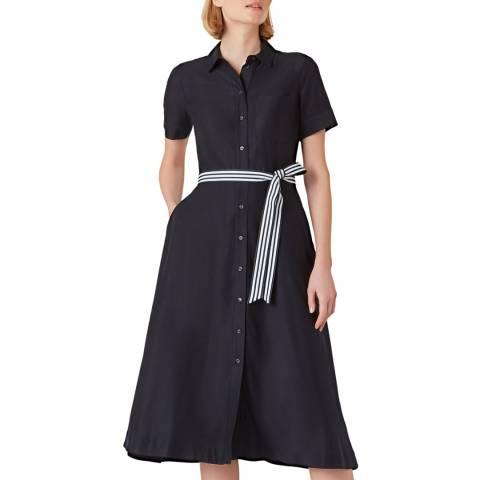 Hobbs London Navy Rosaleen Shirt Dress