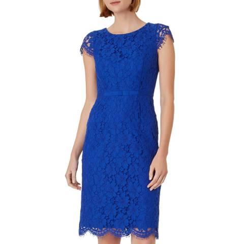 Hobbs London Colbalt Blue Lace Elora Dress