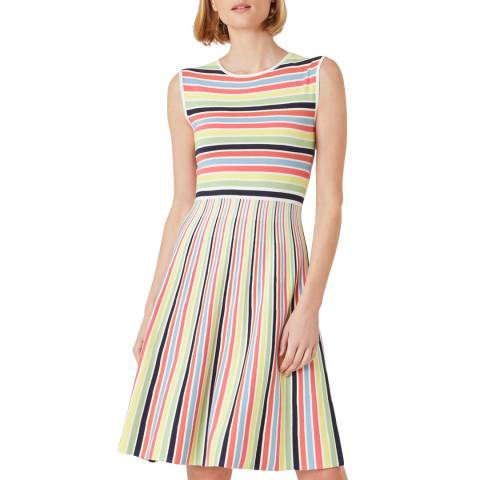 Hobbs London Rainbow Stripe Dress