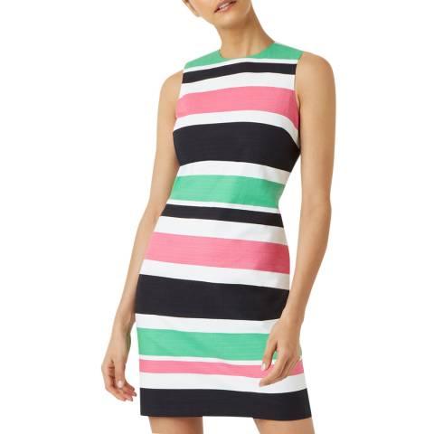 Hobbs London Black Multi Stripe Alya Shift Dress