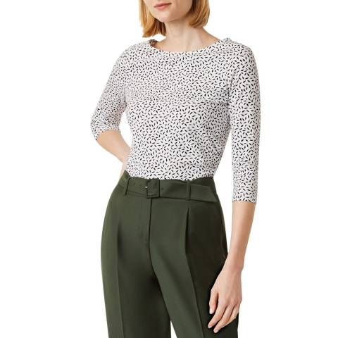 Hobbs London Navy Rebecca Ruched Top