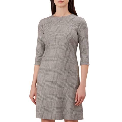 Hobbs London Grey Check Sharon Dress