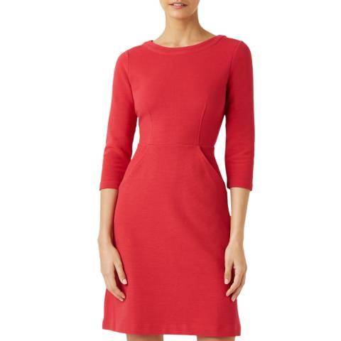 Hobbs London Red Yasmine Shift Dress