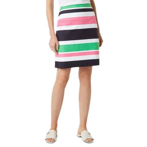 Hobbs London Black Multi Stripe Alya Skirt