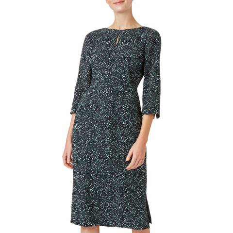 Hobbs London Navy Ditsy Print Jules Dress