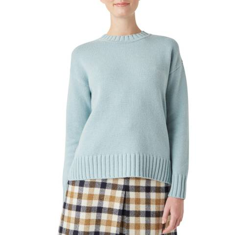 Hobbs London Pale Blue Knitted Ruby Jumper