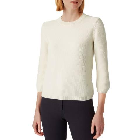 Hobbs London Ivory Knitted Jade Sweater