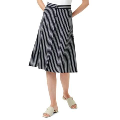 Hobbs London Navy Stripe Monroe Skirt