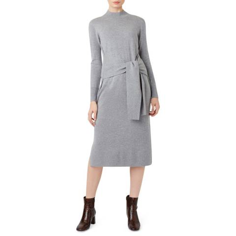 Hobbs London Grey Cashmere Blend Tilly Dress