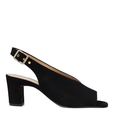 Hobbs London Black Kali Suede Slingback Sandals