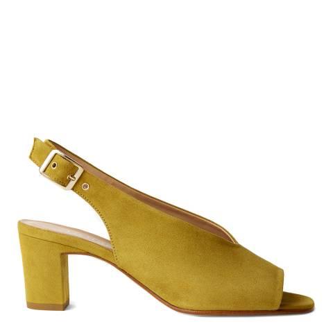 Hobbs London Yellow Kali Suede Slingback Sandals