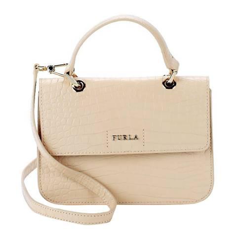 Furla Light Beige Ottavia Small Top Handle Bag