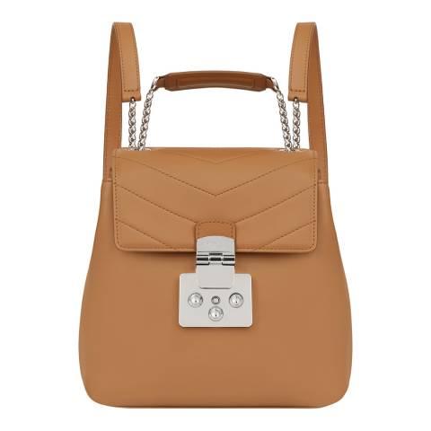 Furla Caramel Fortuna Small Backpack