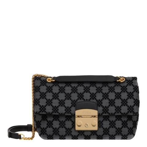 Furla Black Metrop Nuvola Small Shoulder Bag