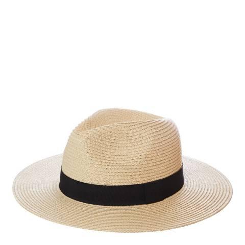 N°· Eleven Cream Woven Fedora Hat