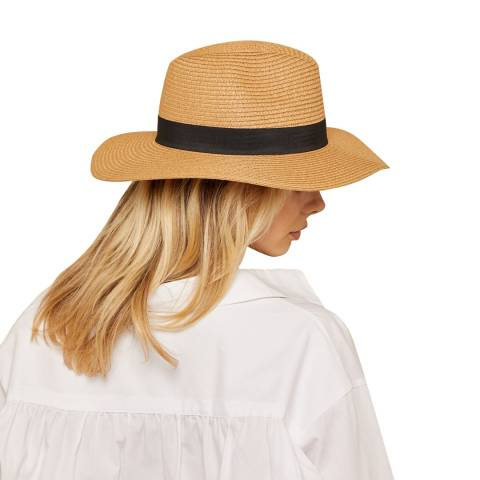 N°· Eleven Tan Woven Fedora Hat