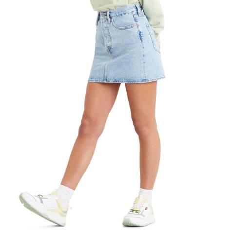 Levi's Blue Ribcage Stretch Mini Skirt