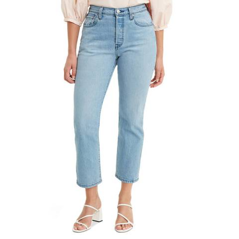 Levi's Light Blue 501® Crop Stretch Jeans