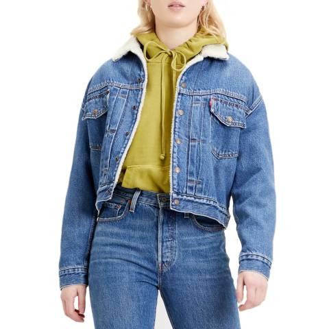 Levi's Blue New Heritage Sherpa Denim Jacket