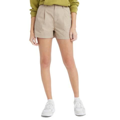 Levi's Khaki Pleated Utility Shorts