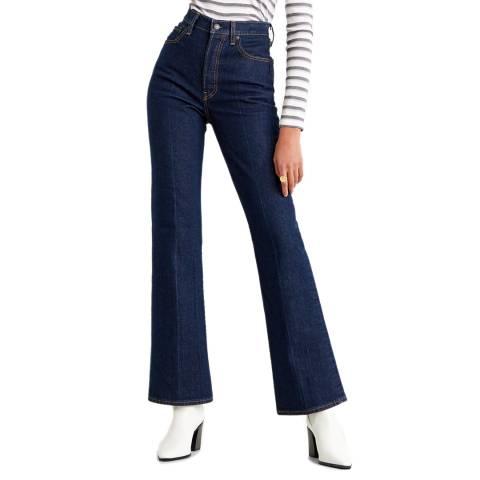 Levi's Indigo Ribcage Bootcut Stretch Jeans