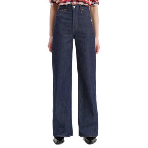 Levi's Indigo Ribcage Wide Leg Jeans