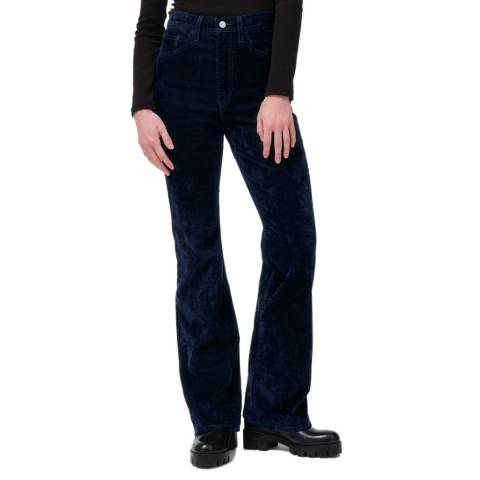 Levi's Navy Ribcage Bootcut Stretch Jeans