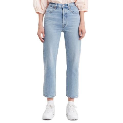 Levi's Blue Ribcage Straight Stretch Jeans
