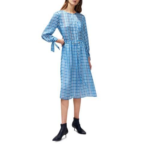 Claudie Pierlot Blue Gingham Midi Dress