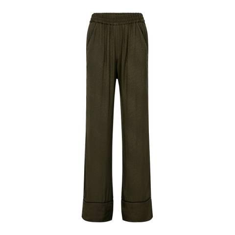 Claudie Pierlot Khaki Loose Pyjama Pants