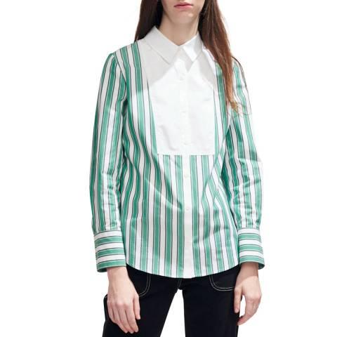Claudie Pierlot Green Stripe Shirt