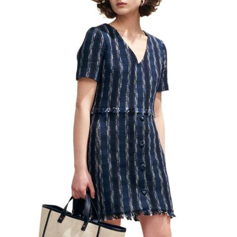 Claudie Pierlot Navy Stripe Mini Dress