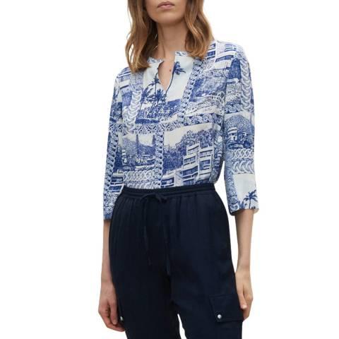 Claudie Pierlot Multi Pattern Silk Blouse