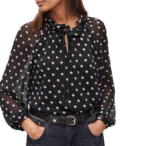 Claudie Pierlot Multi Ruffle Collar Top