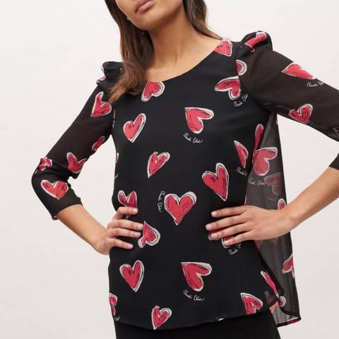 Claudie Pierlot Multi Heart Print Top