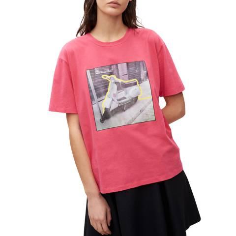 Claudie Pierlot Pink Peony Graphic T-Shirt