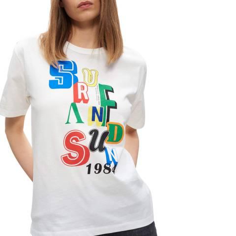 Claudie Pierlot Ecru Surf And Sun T-Shirt