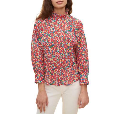Claudie Pierlot Multi Daisy Print Cotton Shirt