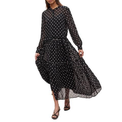 Claudie Pierlot Black Floral Print Sheer Maxi Dress