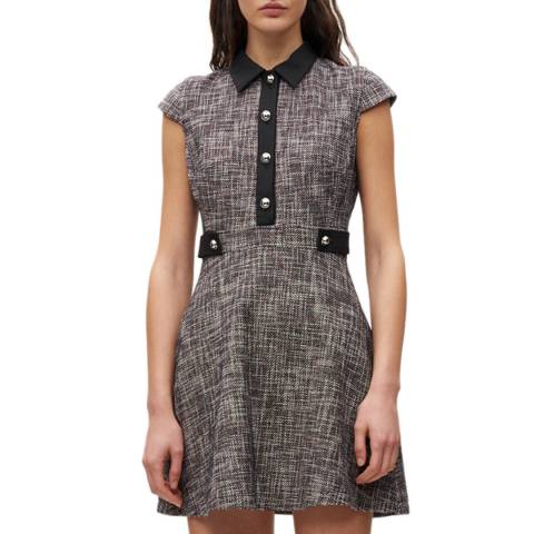 Claudie Pierlot Multi Shirt Collar Tweed Mini Dress