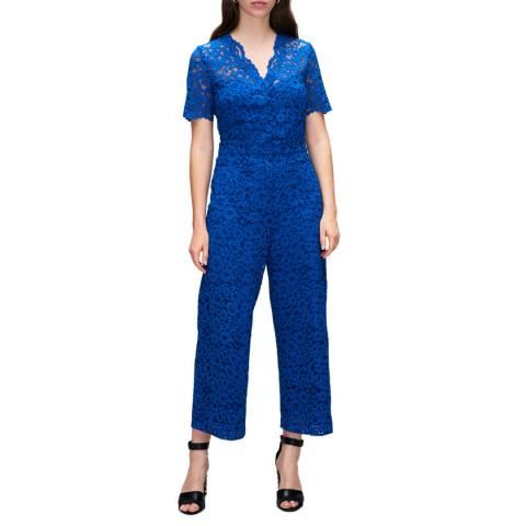Claudie Pierlot Royal Blue Lace Jumpsuit