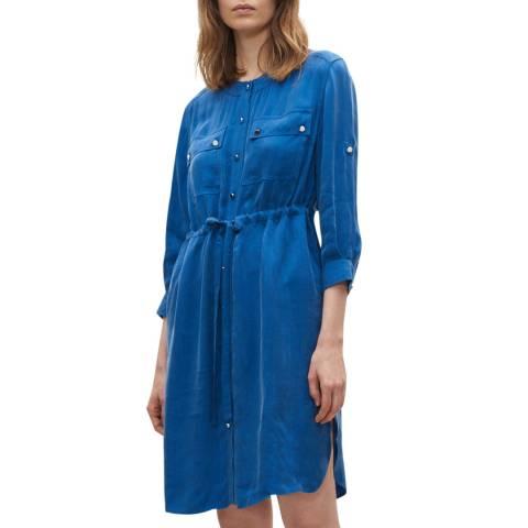 Claudie Pierlot Blue Draw String Waist Dress
