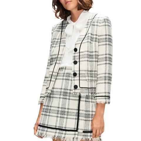 Claudie Pierlot Ecru Checked Tweed Blazer