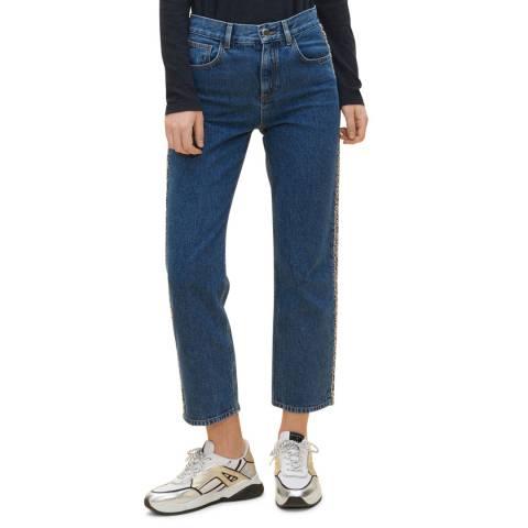 Claudie Pierlot Blue Frayed Side Cotton Jeans