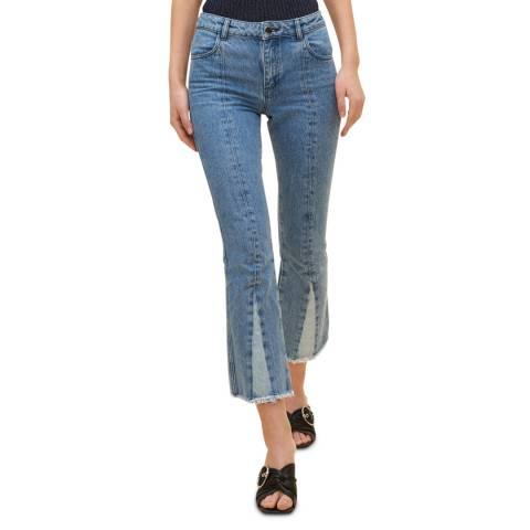 Claudie Pierlot Blue Denim Fit and Flare Cotton Jeans