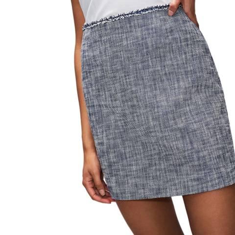 Claudie Pierlot Dark Chambray Tweed Mini Skirt